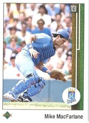 1989 Upper Deck # 546 Mike Macfarlane (RC) Rookie Card - Kansas City Royals - MLB Baseball Trading Card