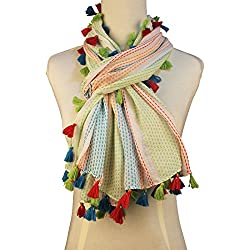 Vozaf Women's Viscose Stoles & Scarves - Green