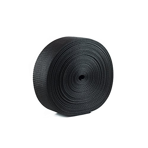 Houseables Polypro Webbing Strap, Polypropylene Heavy Flat Strapping, 2 Inch W x 25 Yards (Two 12.5 Yard Rolls), Black, UV Resistant Fabric, Waterproof for Bags, Backpacks, Handles, Luggage, Slings (Belt Strapping compare prices)