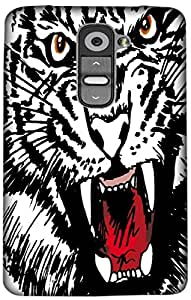 Timpax Light Weight Hard Back Case Cover Printed Design : A roar of a tiger.For LG G2 mini ( D618 )