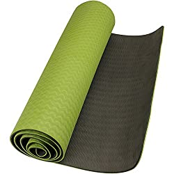 Neo Gold leaf eco-friendly double textures TPE yoga mat green