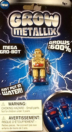 Grow Metallix Mega Gro-Bot ~ Gold ~ 600% Growing Robot ~ Gag Toy ~ Water Expandable Toy - 1