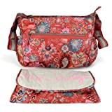 Oilily Winter Leafs Shoulder Baby Bag – Ruby