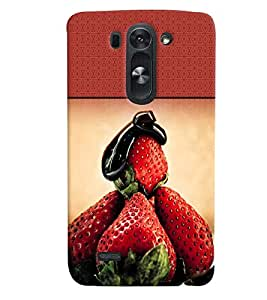 Fuson 3D Printed Fruit Designer back case cover for LG G3 Beat - D4489
