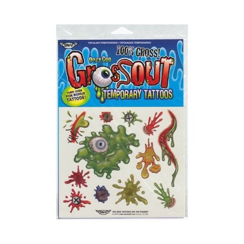 Oozy Goo Gross Out Tattoos ~ Savvi Temporary Tattoos Halloween Costume Accessory!