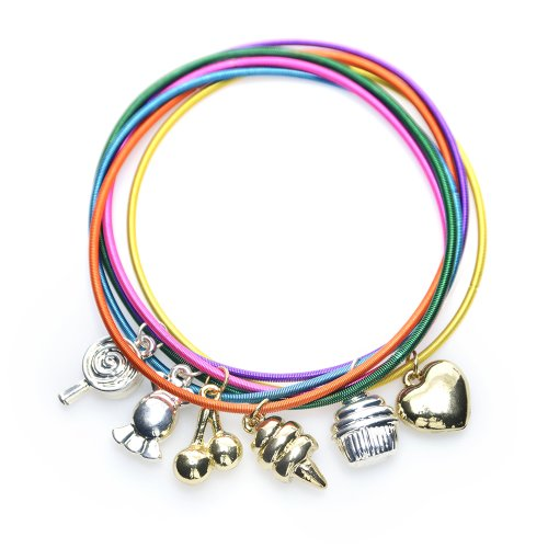 Dylan's Candy Bar Six Piece Guitar String Bracelet Set