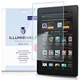 ILLumiShield - Amazon Kindle Screen Protector (2014) with HD Blue Light UV Filter and Lifetime Replacement Warranty / Premium High Definition Clear Film / Reduces Eye Fatigue and Eye Strain - Anti- Fingerprint / Anti-Bubble / Anti-Bacterial Shield - [2-P