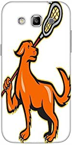 Snoogg dog with lacrosse stick side view Hard Back Case Cover Shield For Samsung Galaxy Grand Quattro Win I8550
