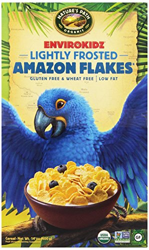 EnviroKidz Organic Lightly Frosted  Amazon Flakes Cereal, 14-Ounce Boxes (Pack of 6)