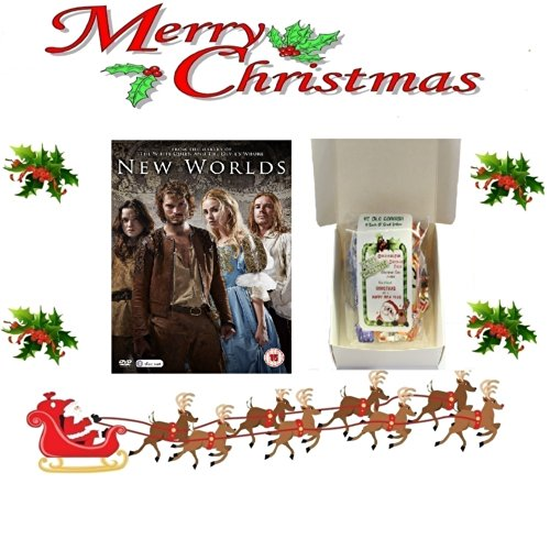 Christmas Gift Pack - New Worlds [NON USA FORMATTED VERSION REGION 2 DVD] + Ye Old Cornish Christmas Sweets Gift Bag (New Worlds Jamie Dornan compare prices)