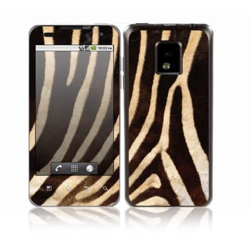 Zebra Print Design Decorative Skin Cover Decal Sticker for LG T mobile G2x P999 Cell Phone