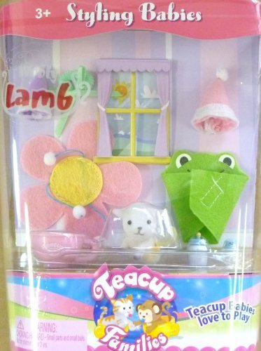 Teacup Families Styling Babies Wooly Lamb Playset