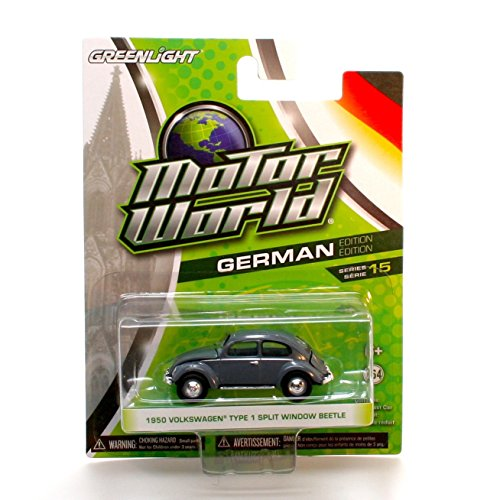 1950 VOLKSWAGEN TYPE 1 SPLIT WINDOW BEETLE (Grey) * Motor World Series 15 * 2016 Greenlight Collectibles German Edition 1:64 Scale Die-Cast Vehicle