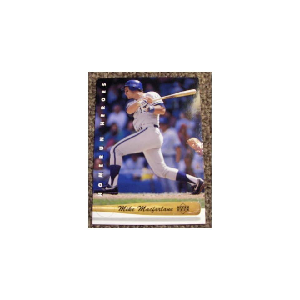 1993 Upper Deck Mike Macfarlane # 25 MLB Baseball Homerun Heroes Card