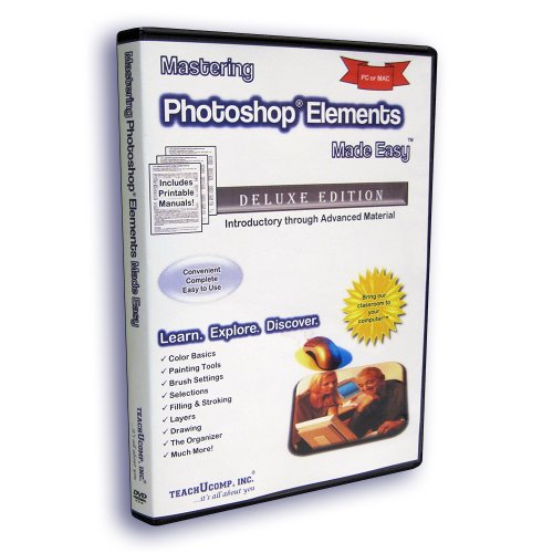 Mastering Photoshop Elements 11 Made Easy Video Training Tutorial DVD-ROM Course