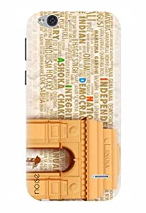 Noise Designer Printed Case / Cover for Lyf Water 2 / Quotes/Messages / India Gate Ashoka Chakr Design