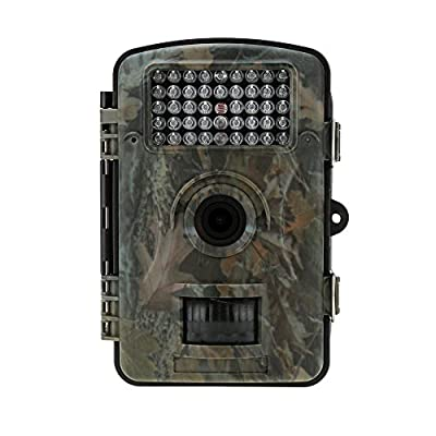 Lixada Portable Wildlife Hunting Camera 12MP HD Digital Infrared Scouting Trail Camera 850nm IR LED Night Vision Video Recorder