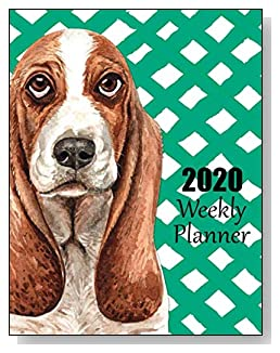 Basset Hound 2020 Dated Weekly Planner - A fun canine-themed planner to help any dog lover stay organized and keep track of activities on a daily, weekly, and monthly basis from January to December 2020.