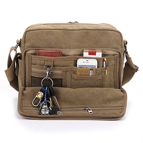 MiCoolker(TM) Multifunction Versatile Canvas Messenger Bag Handbag Crossbody Shoulder Bag Leisure Change Packet