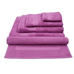 hierba serviette de bain luz 50x100 cm couleur malva cuisine maison. Black Bedroom Furniture Sets. Home Design Ideas