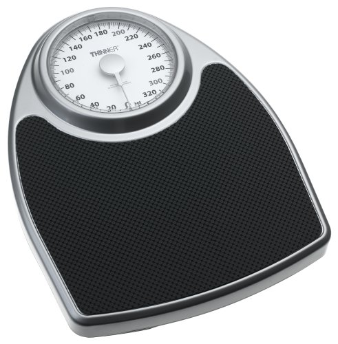 Cheap Thinner Scale by Conair TH100 Extra Large Dial Analog Precision Scale, Black and Silver (TH100S)