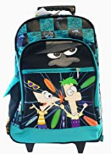 Ferb and Phineas Large Rolling BackPack - Ferb and Phineas Large Rolling School Bag