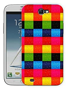 """Humor Gang Colorful Blocks Printed Designer Mobile Back Cover For """"Samsung Galaxy Note 2"""" (3D, Matte, Premium Quality Snap On Case)"""