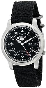"Seiko Men's SNK809 ""Seiko 5"" Automatic Watch with Black Canvas Strap"