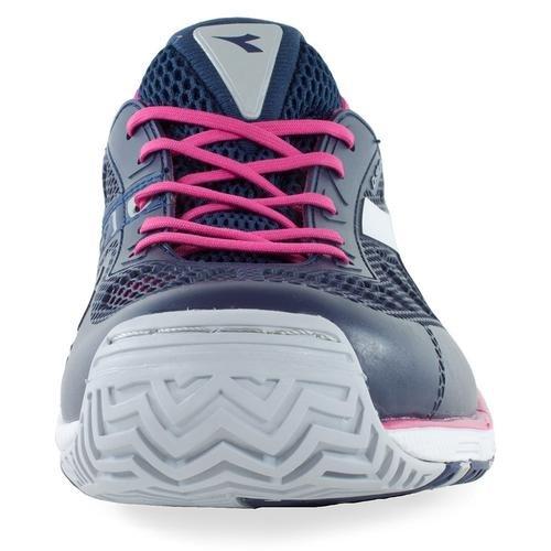 Diadora Women's Speed Pro Evo Ag Tennis Shoes (Blue Plum/Bright Rose) (9 B(M) US)