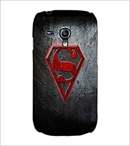 PrintDhaba Superman Logo D-2012 Back Case Cover for SAMSUNG GALAXY S3 MINI (Multi-Coloured)