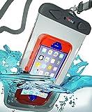 WATERPROOF iPHONE 6 PLUS CASE, KONAÃ'® [EXTRA LARGE] Waterproof Phone Bag Fits Large Phones Using Thick Cases Like Otterbox - 30% Heavier Duty Double Sealed Seam