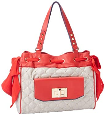 Juicy Couture Karla Metallic Daydreamer YHRU3494 Shoulder Bag,Red Siren,One Size