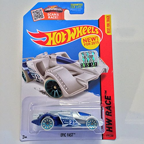 Hot Wheels 2015 Night Storm New Models - Epic Fast [White] Long Card 170/250 (Hot Wheels New For 2015 compare prices)