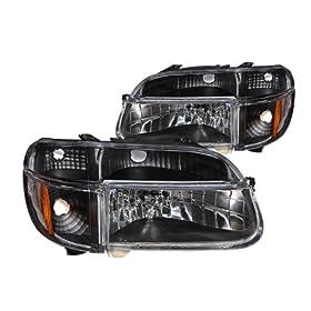 Anzo 111021 Chrome Front Crystal Headlight fit for 97-03 Dodge Dakota//Durango