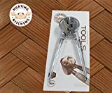 ZOMAKE Nutcracker Best Nut Cracker Tool Die Cast Zinc Alloy Walnut Cracker Clamp Plier with Soft Rubber Grips(Silver)