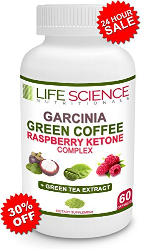 The Original 4-in-1 Garcinia Cambogia, Green Coffee Bean, Raspberry Ketones & Green Tea Extract 1300mg Dr. Recommended For Fat Burn, Weight Loss & Appetite Suppressant (60 Caps, 4 oz) (Pure Green Tea Extract Pills compare prices)
