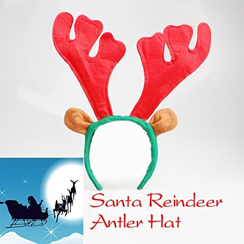 Santa Reindeer Antler Hat Deer Horn Christmas Cap Free Shipping New Gift Xmas Free Shipping