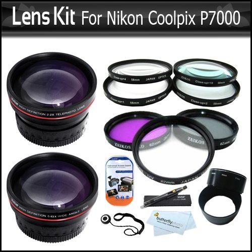 Teleconverters For Nikon Lenses: 58mm Lens Bundle Kit For