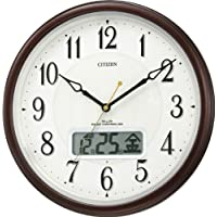 CITIZEN (シチズン) 掛け時計 ピュアカレンダーM03  電波時計 自動点灯ライト付 カレンダー表示 4FYA03-006