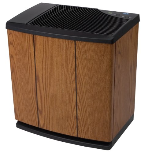 Essick Air H12-300HB 4-Speed Whole House Evaporative Console Humidifier, Light Oak, Black Trim