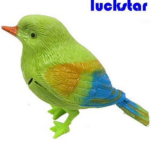 LUCKSTAR® Voice Control Bird, Mini Lovely Colorful Voice Control Bird Toys Fantastic Singing Song Simulation Bird Novelty Promotional Kids Boy Girl Toys Chirping Sing Singing Pocket Bird Sound Voice Control Activate Funny Toy For Baby Children Gift - 1
