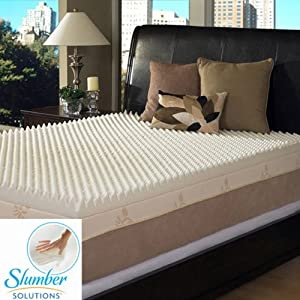 Slumber Solutions Highloft Supreme 4-inch Memory Foam Mattress Topper, Size Queen
