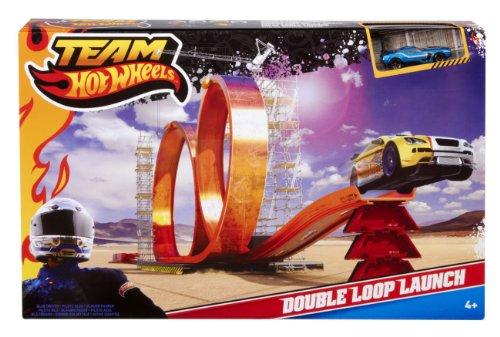 Imagen principal de Mattel W2814 Hot Wheels - Circuito con dos loops [Importado de Alemania]