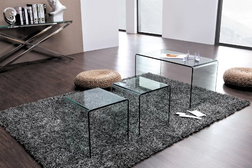 Nested Glass Coffee Table