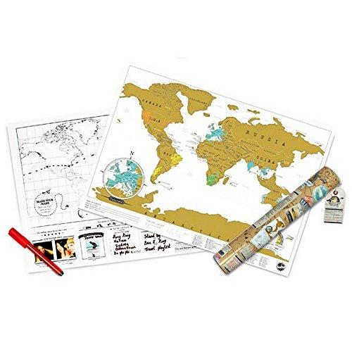 Planisphère à gratter Travel World