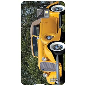 Samsung Galaxy S2 Phone Cover - Yellow Car Matte Finish Phone Cover