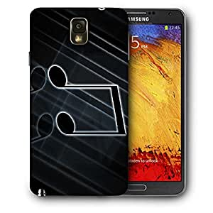 Snoogg Telecharger Note Musique Printed Protective Phone Back Case Cover For Samsung Galaxy NOTE 3 / Note III