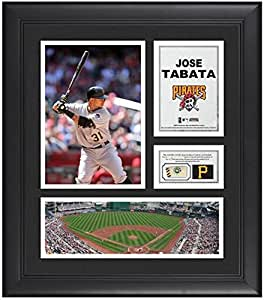 "Jose Tabata Pittsburgh Pirates Framed 15"" x 17"" Collage with Game-Used"