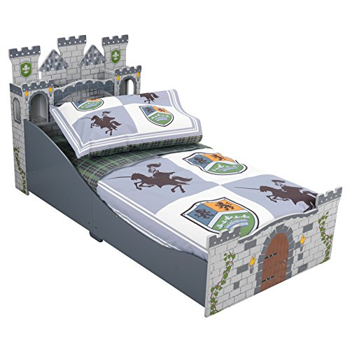 KidKraft Toddler Knights and Shields Bedding Set (4-Piece)