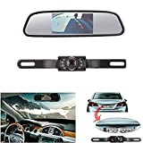 Backup Camera and Monitor Kit for Vehicle/Car ,LeeKooLuu CMOS Reverse/Rear reiew camera and Monitor for Car With 7 LED Night Vision